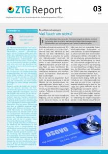 Titelblatt ZTG-Report 3-2018