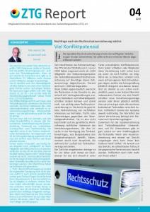 Titelblatt ZTG-Report 4-2018